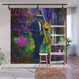 NEW ORLEANS JAZZ TROMBONE LET THE GOOD TIMES ROLL!! Wall Mural