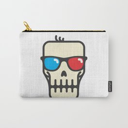 Line skull with 3D glasses Carry-All Pouch
