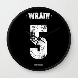 7 Deadly sins - Wrath Wall Clock