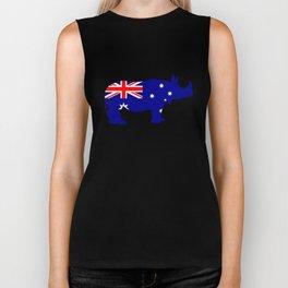 Australian Flag - Rhinoceros Biker Tank