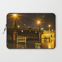 Night on the Moltke-Bridge in Berlin Laptop Sleeve