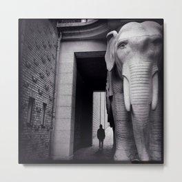 Elephant Gate Metal Print