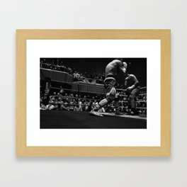 WHEN THE TITANS FALL, WE WANT TO SAY WE WERE THERE Framed Art Print