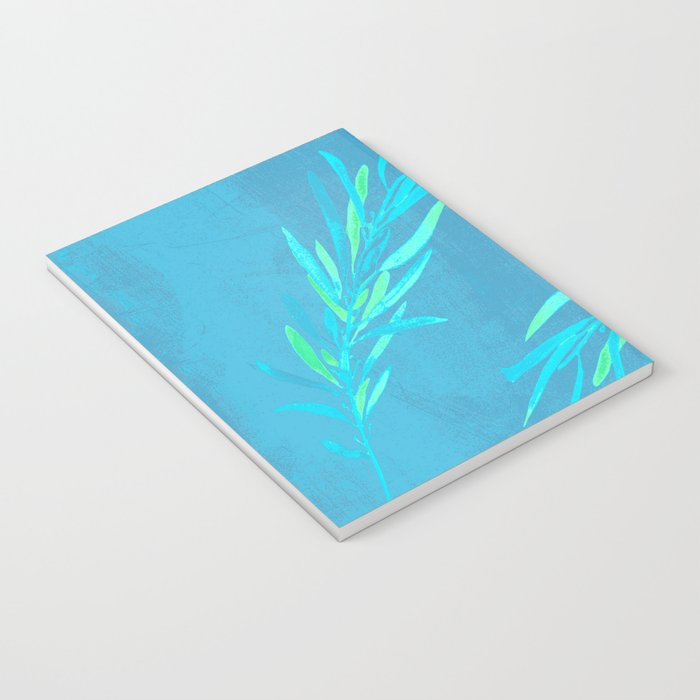 Eucalyptus leaves blue Notebook