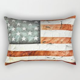 Painted Stars And Stripes Rectangular Pillow