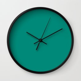Mid Century Mod Teal Blue-Green Solid Wall Clock