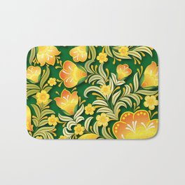 Art Flowers Bath Mat
