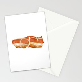 Watercolor Illustration of Chinese Snack - Smoked Meat   柴沟堡熏肉 Stationery Cards