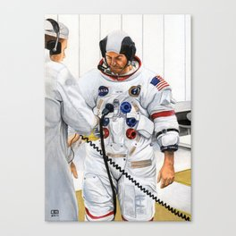 Apollo 14 CDR suiting up Canvas Print