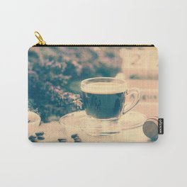 Coffee break in the Lavender Time Carry-All Pouch