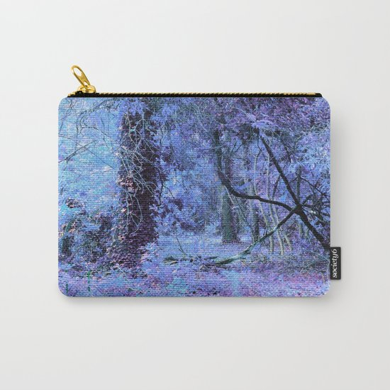 Periwinkle Tree Landscape Carry-All Pouch