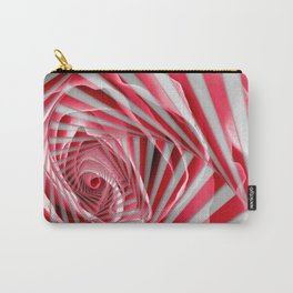 Pink Rose Spiral Carry-All Pouch