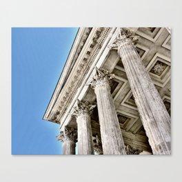 Roman Temple Corinthian Columns Nimes Provence France Canvas Print