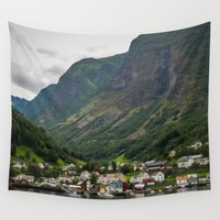 norway Wall Tapestries featuring Norway by Michelle McConnell