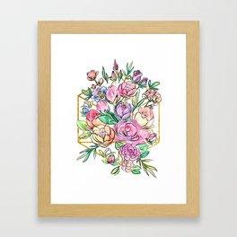 Floral Geometry Framed Art Print