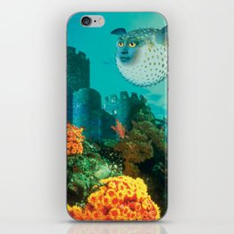 Pufferfish Girl iPhone Skin
