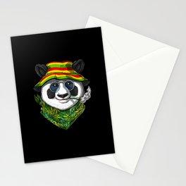 Panda Smoking Weed Stationery Cards