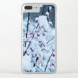 Winter Branches 2 Clear iPhone Case