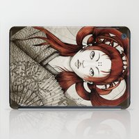 postcard iPad Cases featuring Japanese Postcard by Little faba