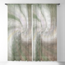 Swirling Softly.... Sheer Curtain
