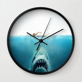First And Last Swim Of The Day Wall Clock