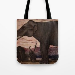 Vintage Elephant Painting (1909) Tote Bag