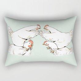 Chicken Fight Rectangular Pillow
