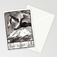 lunar whales Stationery Cards