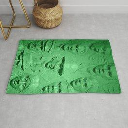 Faces green tint Rug