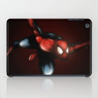 spider man iPad Cases featuring Spider Man by Luis Pinto