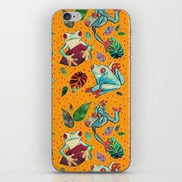 Rainforest Froggies iPhone Skin