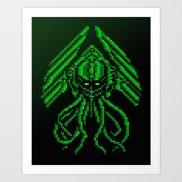 Pixel Art Cthulhu Art Print