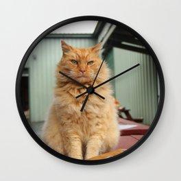 The Orange Guardian Wall Clock