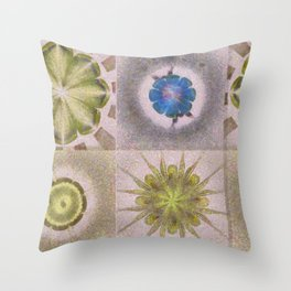 Underbuys Configuration Flowers  ID:16165-093621-68510 Throw Pillow