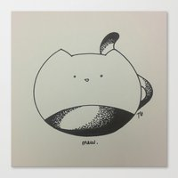 mew Canvas Prints featuring Mew. by letrang