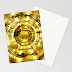 Abstract fantasy painting in gold. Stationery Cards