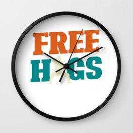 Free Hugs - Jiu Jitsu Wall Clock