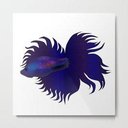 Betta Fish (Punk) Metal Print