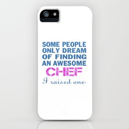 CHEF'S MOM iPhone Case