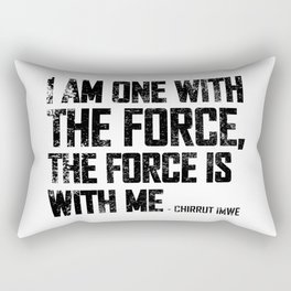 i am one with the force Rectangular Pillow