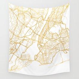 NEW YORK CITY NEW YORK CITY STREET MAP ART Wall Tapestry