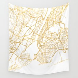 NEW YORK CITY NEW YORK CITY STREET MAP ART Wall Tapestry