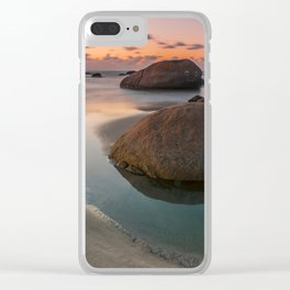 The rock that smiles Clear iPhone Case