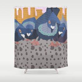 Pigeon Feast Shower Curtain