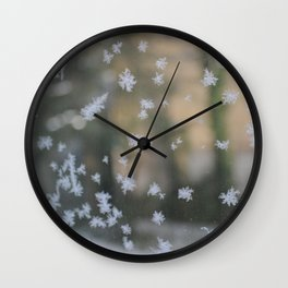 "It's frosty ""Ice Flower"" #2 #art #society6 Wall Clock"