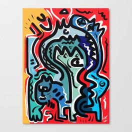 Life Energy Pop Art Graffiti Abstract Design Canvas Print