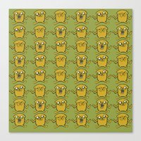 jake Canvas Prints featuring JAKE by SuperPills