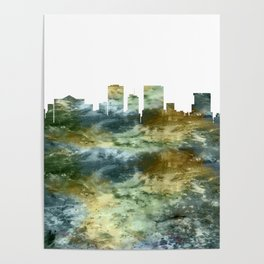 El Paso Skyline Texas Poster