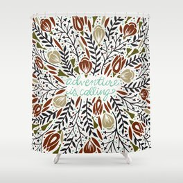 Adventure is Calling – Earth Palette Shower Curtain