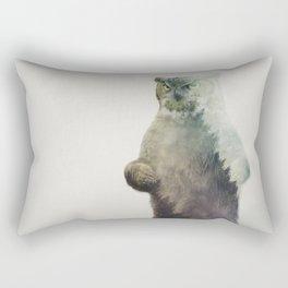 Owlbear in Forest Rectangular Pillow